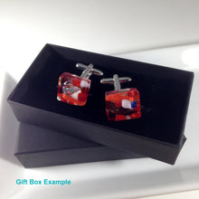 Red Cufflinks / Christmas Cufflinks / Gift for Dad / Best Mate Gift / Cufflinks for her