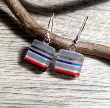 Stripy Earrings / Candy Stripe / Striped Glass Earrings