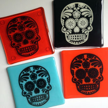 Skull Coaster / Tattoo Art / Sugar skull coaster - YOUR CHOICE OF COLOUR