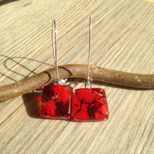 Red Earrings / Christmas Earrings / Ruby Red / Garnet Red / Christmas Outfit