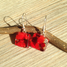 Red Earrings / Ruby Earrings / Sterling Silver / Christmas Outfit