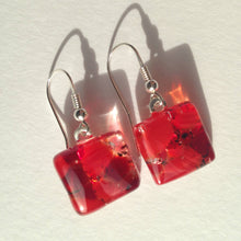 Christmas Earrings / Ruby Earrings / Sterling Silver / Christmas Outfit