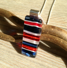 Union Jack Necklace / Star Bangled Banner / Norway Necklace / Mom Gift / blue red white