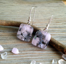 Rose Pink Earrings / Mum Gift / Fused Glass Earrings / Petal Pink / Pink Jewelry