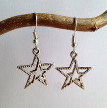 Star Earrings / 80s Jewelry / Silver Stars Earrings / Shooting Star / Stars in their eyes