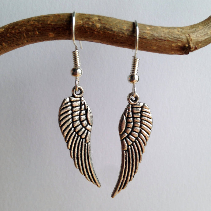 Angel Wings Earrings / Angel Jewellery / Guardian Angel Jewelry / Spirit Earrings