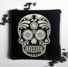 Tattoo Art / Tattoo Coaster / Gift for Tattoo Lover / Skull Coaster / Black Coaster