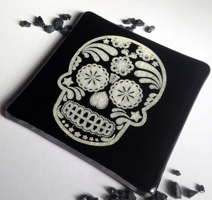 Tattoo Art / Halloween Coaster / Gift for Tattoo Lover / Skull Coaster