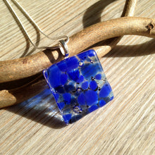 Cobalt Blue Square Pendant Necklace / Ultramarine / Blue Jewelry / Perfect Blue Accessories