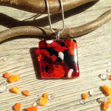 Autumn Jewellery / Orange Red and Black Necklace / Indian Summer / Gift for Sister