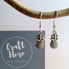 Pineapple Earrings / Tropical Jewelry / Carribbean Jewelry / Silver Pineapple / Samba Outfit