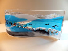 "Seaside Holiday Glass Art ""Herrings"" / Glass Landscape / Fishing Village / Fish Tank  (Made to Order)"