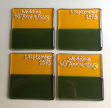 Personalised Wedding or Special Occasion Coaster Set - Free Colour/Design Choice