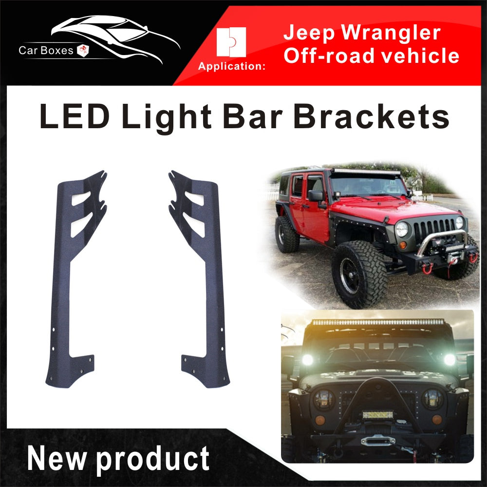 Spraying Iron Roof Top Led Light Bar Mounting Brackets Fit Jeep Wrangler Mounts