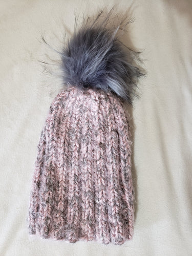 Pink and Gray Hygge Hat