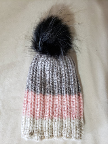Adult Hand Knit Hat