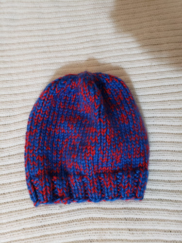 Red and blue adult hat