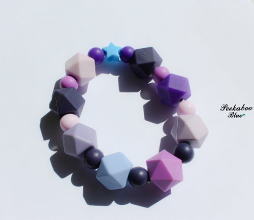 Purple Teething Ring Toy