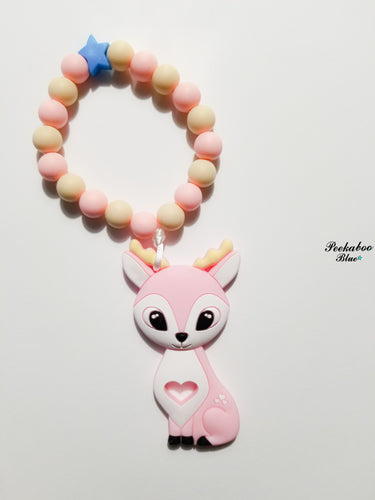 Pink Baby Deer Teether