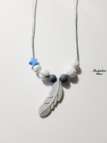 Adult Silicone Feather Breastfeeding Necklace