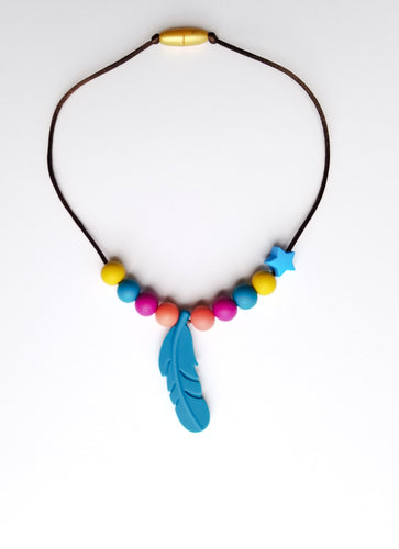 Toddler Feather Teething Necklace