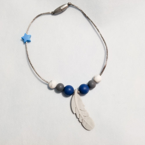 Marble Toddler Feather Necklace