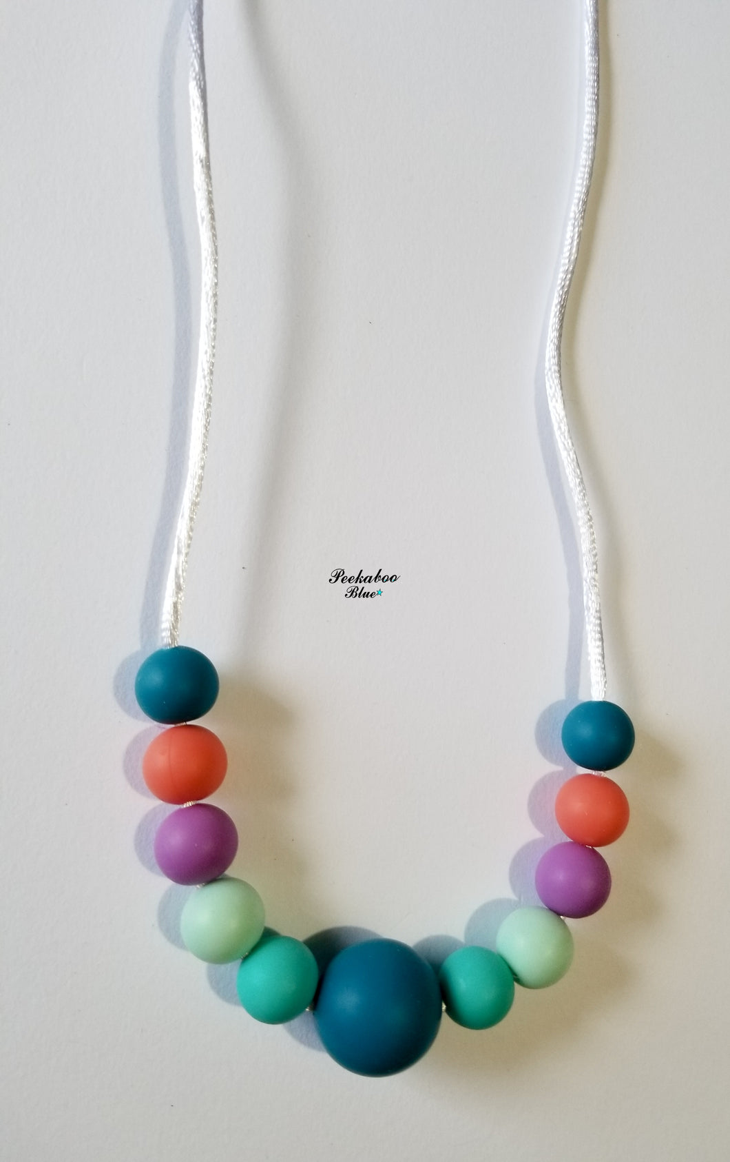 Gem Drops Silicone Teething Necklace