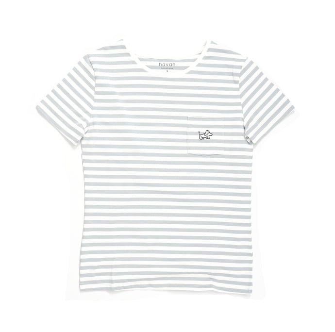 Beagle - Unisex Light Blue Stripe