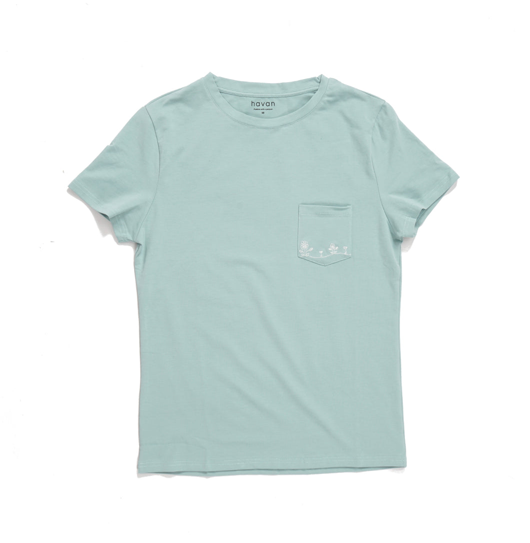 Flowers - Unisex Mint Green