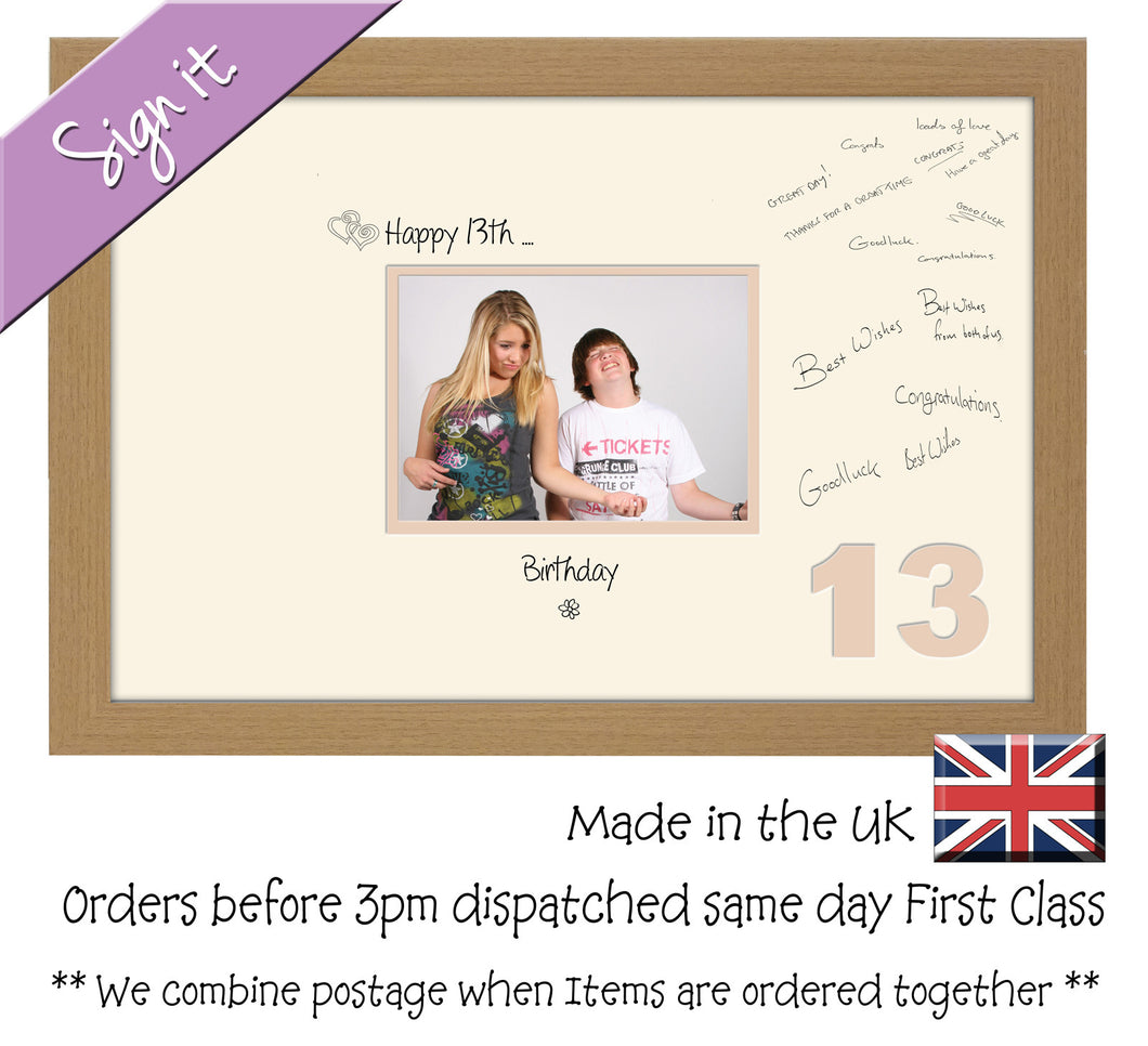 13th Birthday Signing Guest Photo Frame Gift 7