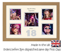 "18th Birthday 4""x4"" x4 and 5""x5"" Square Boxes Photo Frame Double Mounted 964D 450mm x 297mm  mount size , Choices of frames & Borders"