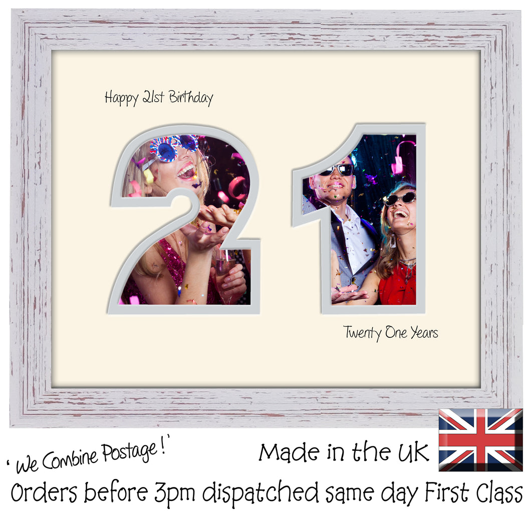 21st Birthday Photo Frame - Twenty First Birthday Landscape photo frame 1180F 9