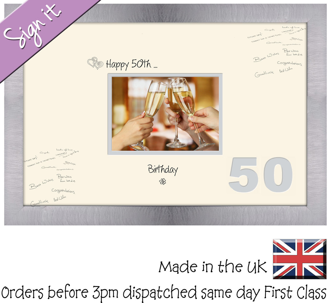 50th Birthday Signing Guest Photo Frame Gift 7\