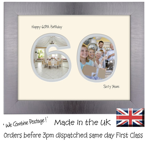 60th Birthday Photo Frame - Sixtieth Birthday Landscape photo frame 1185F 9