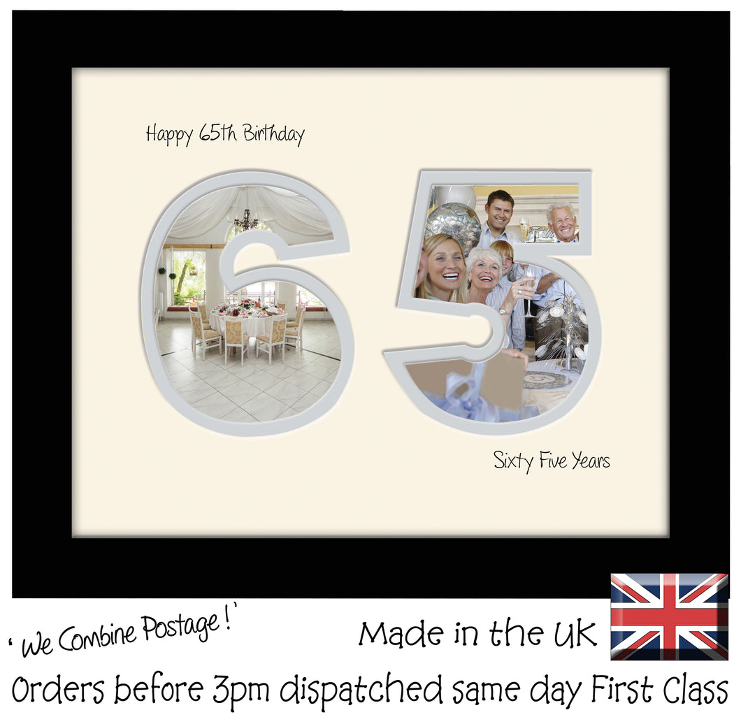 65th Birthday Photo Frame - Sixty Fifth Birthday Landscape photo frame 1186F 9