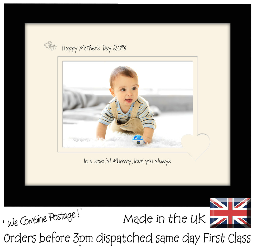 Mummy Photo Frame Mother\'s Day Landscape Double Mount 1198F 6x4 ...
