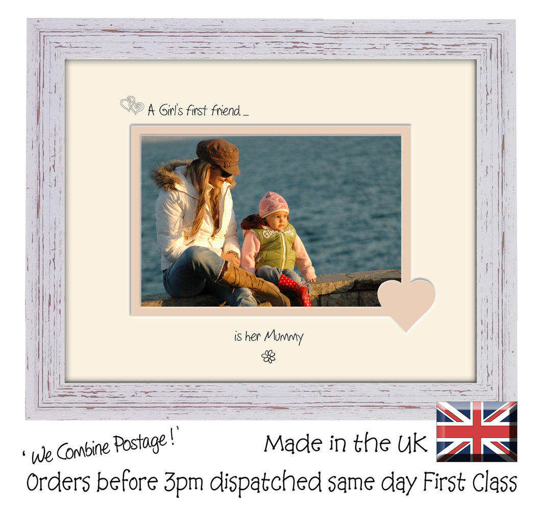 Mummy Photo Frame - A girls first friend…  is her Mummy Landscape photo frame 6