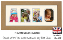 Arlo Photo Frame - Arlo Name Word Photo Frame 1327-BB 375mm x 151mm mount size  , Choices of frames & Borders