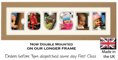 Cousin Photo Frame - Cousin Photo Frame 1271-CC 545mm x 151mm mount size  , Choices of frames & Borders