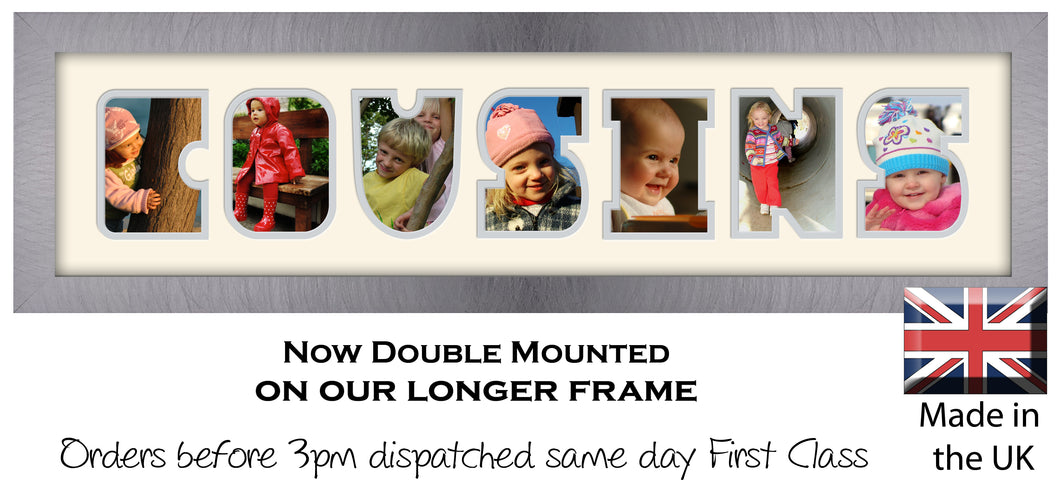 Cousins Photo Frame - Cousins Photo Frame 1272-DD 640mm x 151mm mount size  , Choices of frames & Borders
