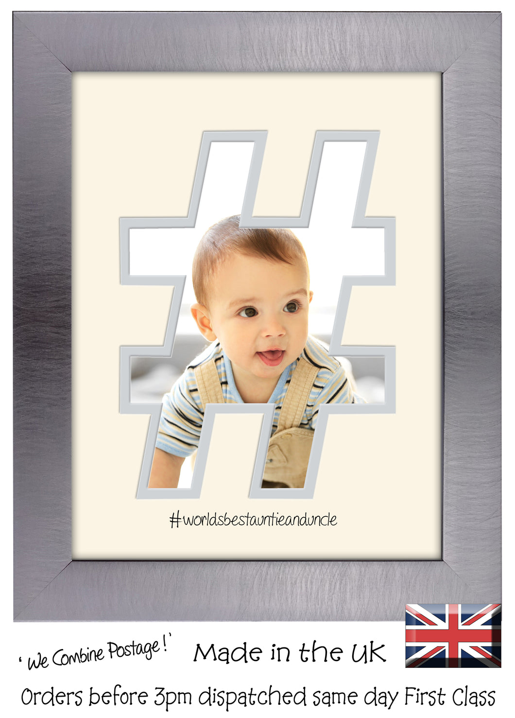 Auntie and Uncle Photo Frame World's Best Auntie and Uncle Hashtag photo frame 6