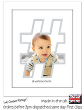 "Auntie Photo Frame World's Best Auntie Hashtag photo frame 6""x4"" photo 1210F 9""x7"" mount size  , Choices of frames & Borders"