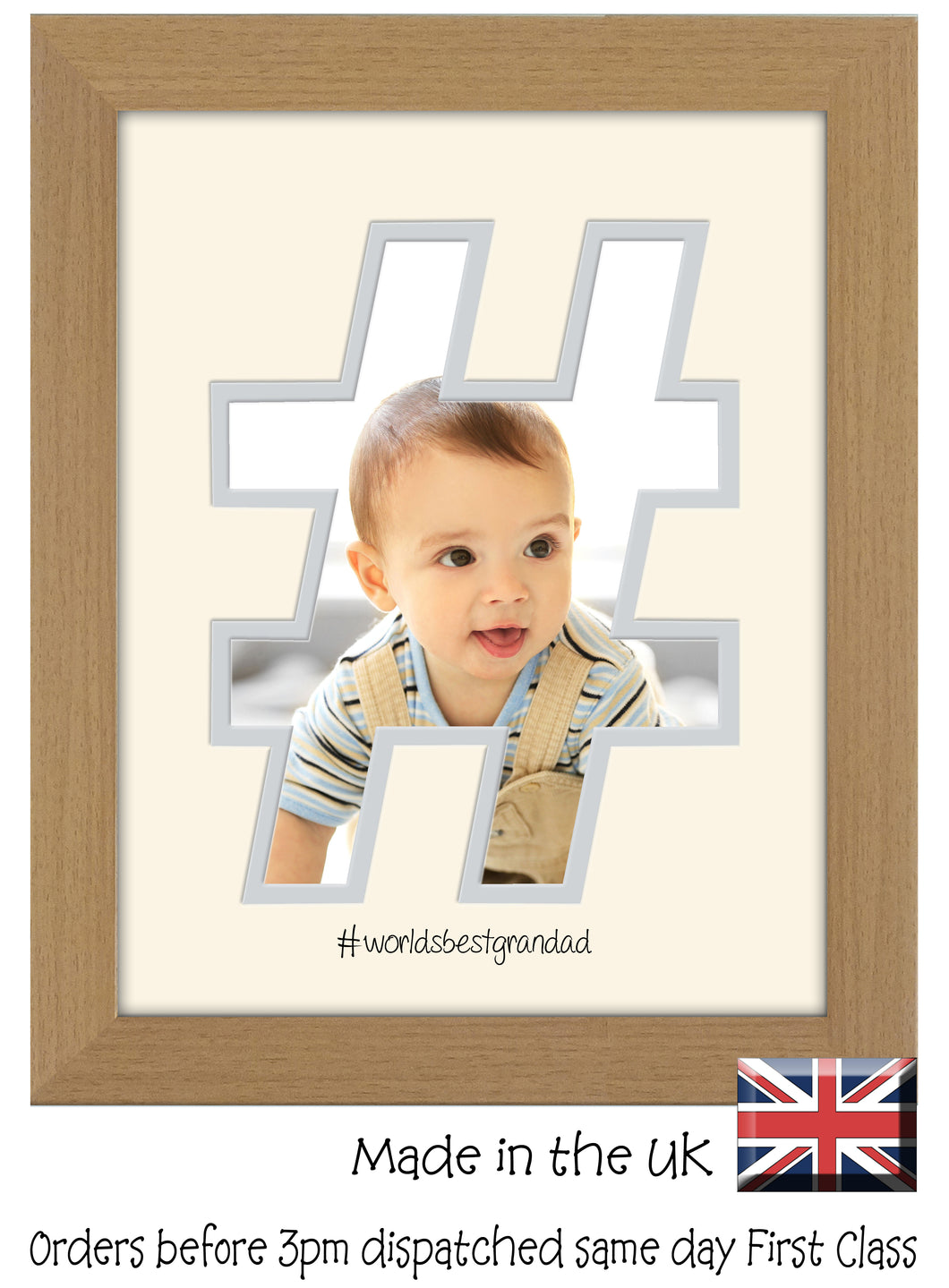 Grandad Photo Frame World's Best Grandad Hashtag photo frame 6