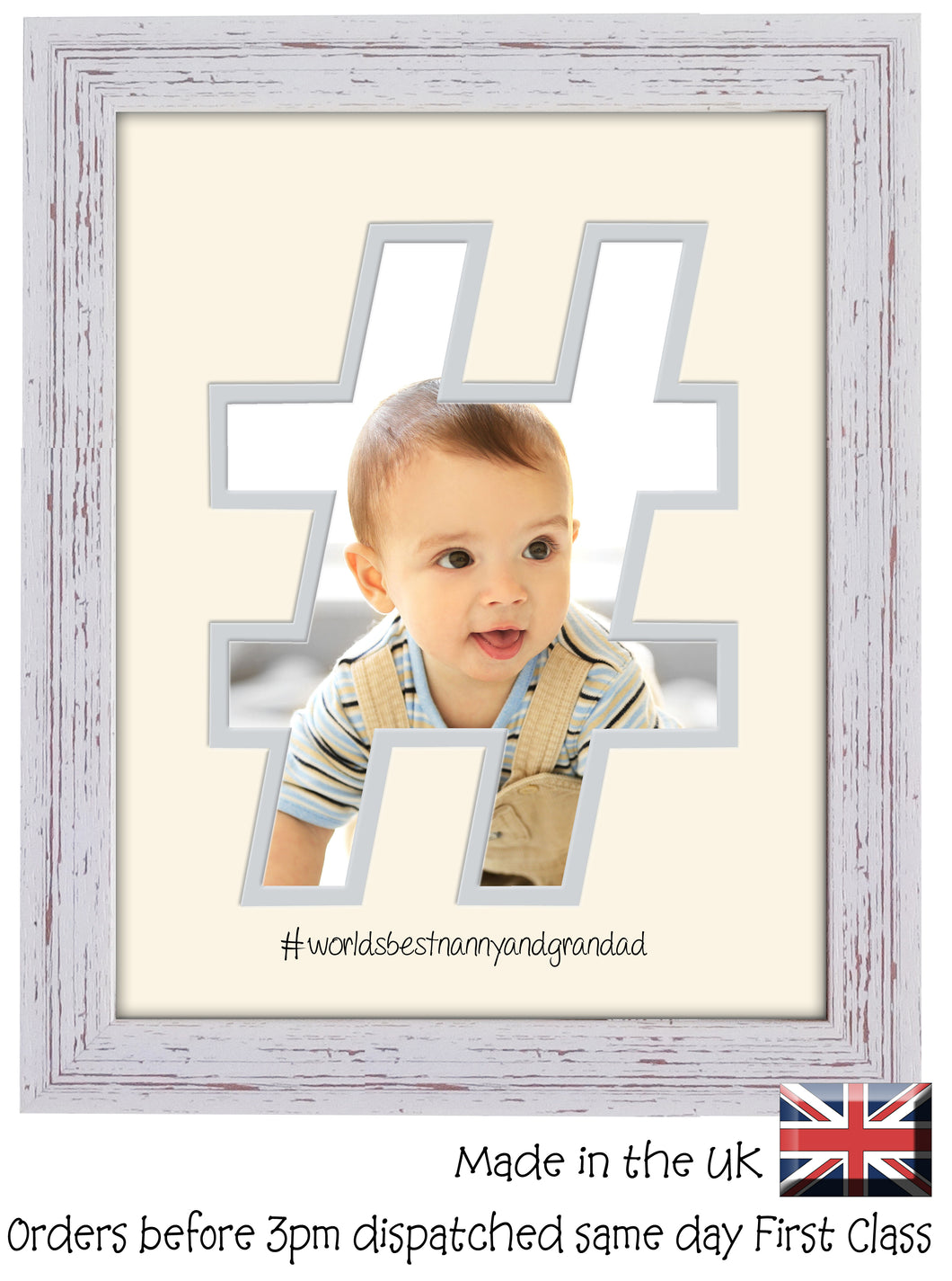 Nanny and Grandad Photo Frame World's Best Nanny and Grandad Hashtag photo frame 6