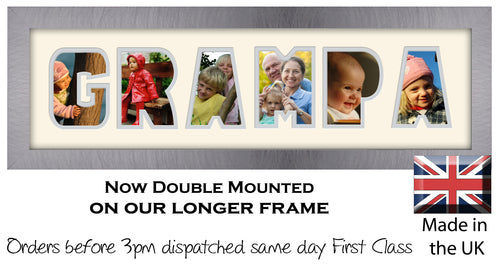 Grampa Photo Word Photo Frame Photos in a Word 1268-CC 545mm x 151mm mount size  , Choices of frames & Borders