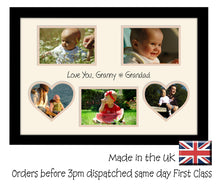 Granny & Grandad Photo Frame - Love You Granny & Grandad Multi Aperture Photo Frame Double Mounted 5BOXHRTS 578D 450mm x 297mm  , Choices of frames & Borders