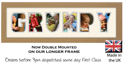 Grumpy Photo Frame Word Photo frame 1253-CC 545mm x 151mm mount size  , Choices of frames & Borders