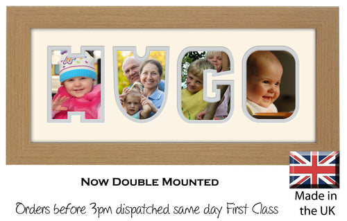 Hugo Photo Frame - Hugo Name Word Photo Frame 1328-BB 375mm x 151mm mount size  , Choices of frames & Borders