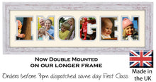 Imogen Photo Frame - Imogen Name Word Photo Frame 1307CC 545mm x 151mm mount size  , Choices of frames & Borders