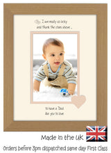 "Dad Photo Frame - I Thank the stars Dad Portrait photo frame 6""x4"" photo 1071F 9""x7"" mount size , Choices of frames & Borders"